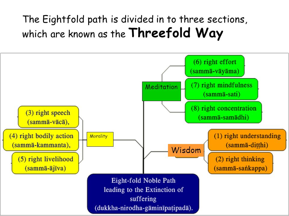 the eightfold path and the four Four noble truths pali in contrast, freedom in the creative modern interpretation of four noble truths and the eightfold path means living happily and wisely.