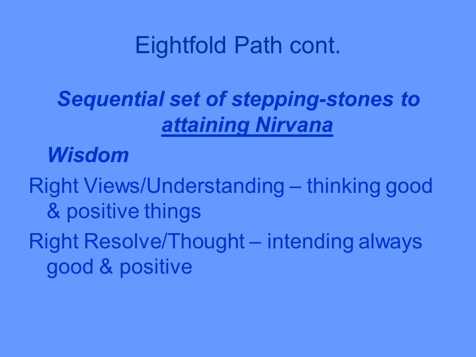 Eightfold Path cont.