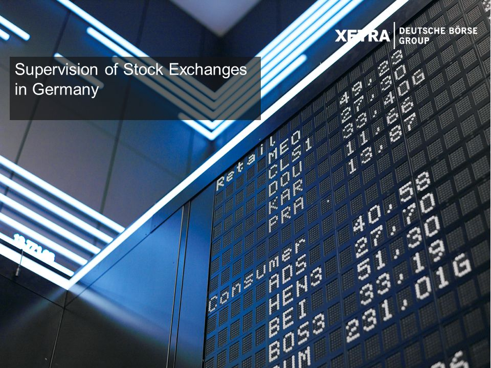 12 Supervision of Stock Exchanges in Germany