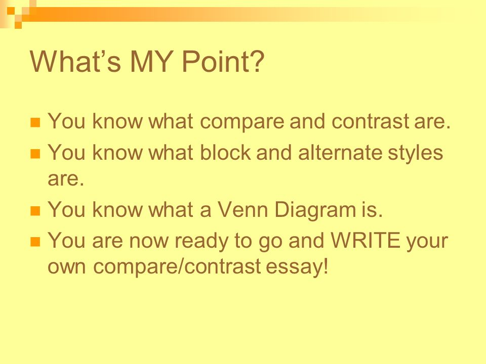 what is a good compare and contrast essay topic Compare and contrast essays are characterized by a basis for comparison, points of comparison, and analogies it is grouped by the object (chunking) or by point (sequential) the comparison highlights the similarities between two or more similar objects while contrasting highlights the differences between two or more objects.