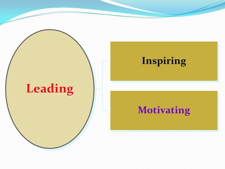 Motivating Inspiring LeadingLeading