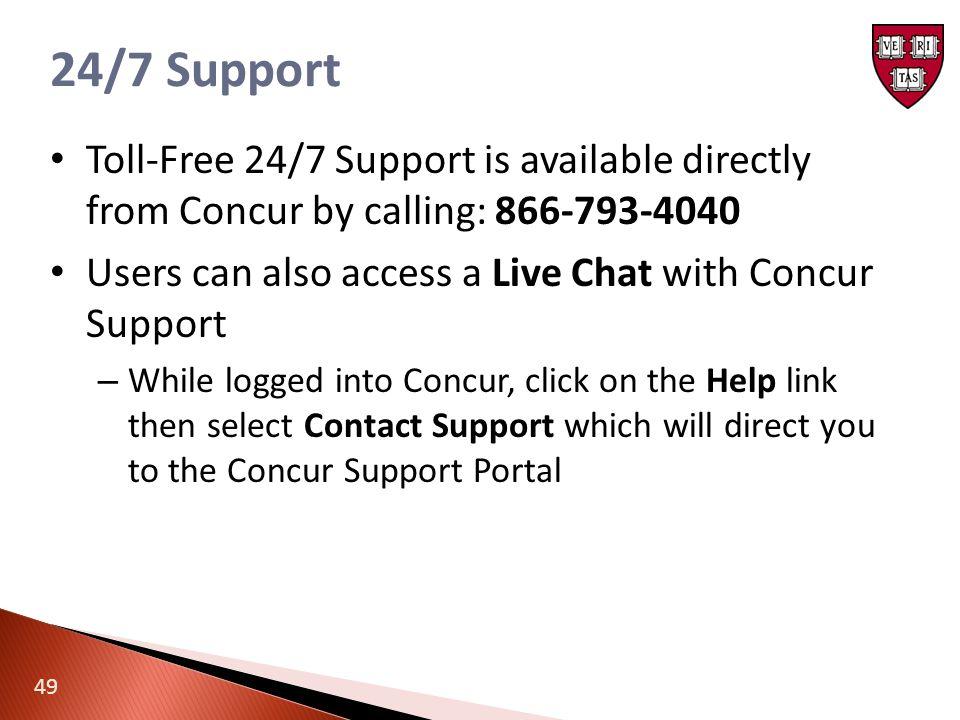 concur support