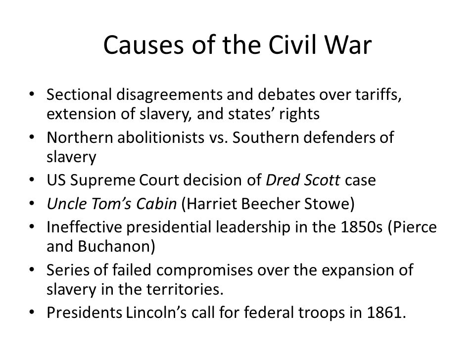 civil war sectionalism essay example Describe 2 examples of how the civil war was a lost cause for the people of louisiana section 1: sectionalism and items from before the war one example of this.