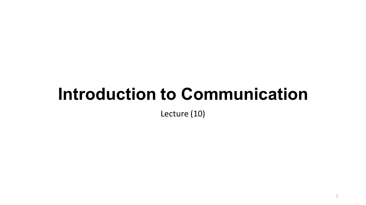 Introduction to Communication Lecture (10) 1. 2 Wired LANs ...
