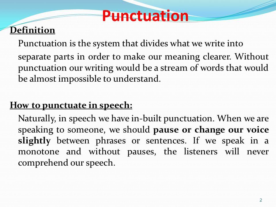 writing punctuation