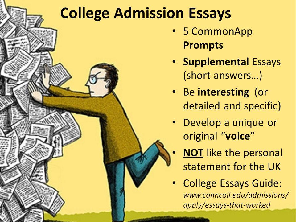 British college application essay prompt