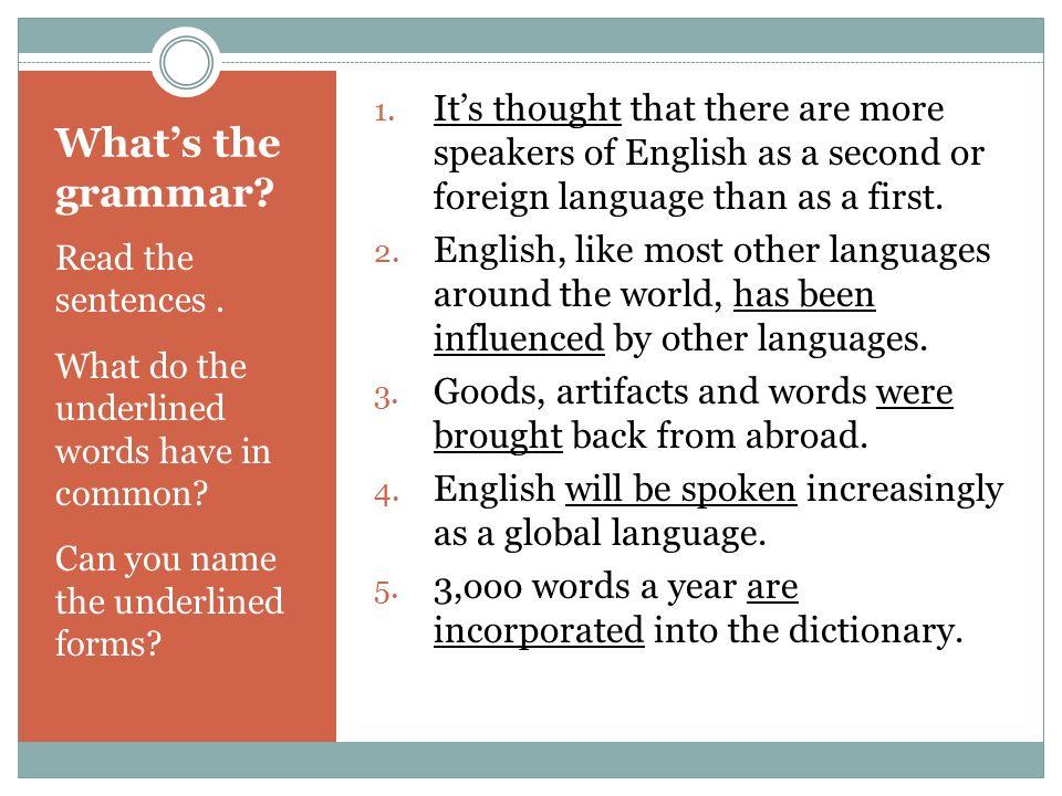English Around The World Module Objectives Language Self - World first language list