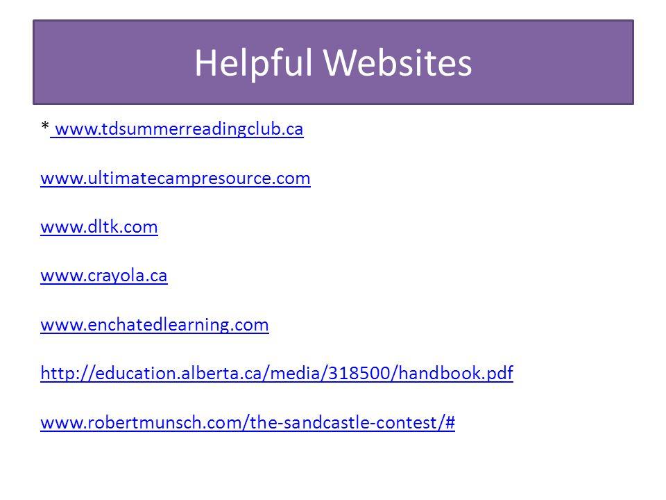 47 helpful websites wwwtdsummerreadingclubca wwwtdsummerreadingclubca wwwultimatecampresourcecom wwwdltkcom wwwcrayolaca - Dltk Com