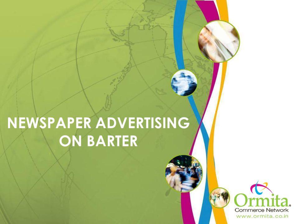 NEWSPAPER ADVERTISING ON BARTER