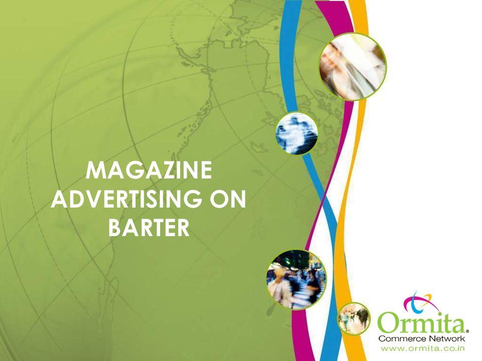 MAGAZINE ADVERTISING ON BARTER
