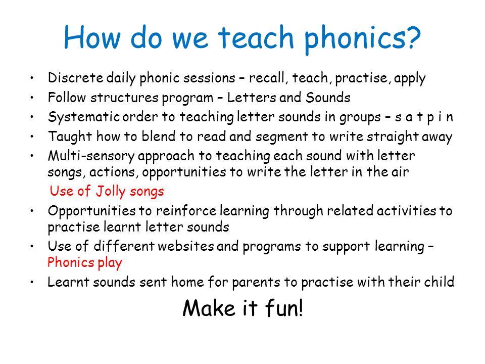 How Do We Teach Phonics