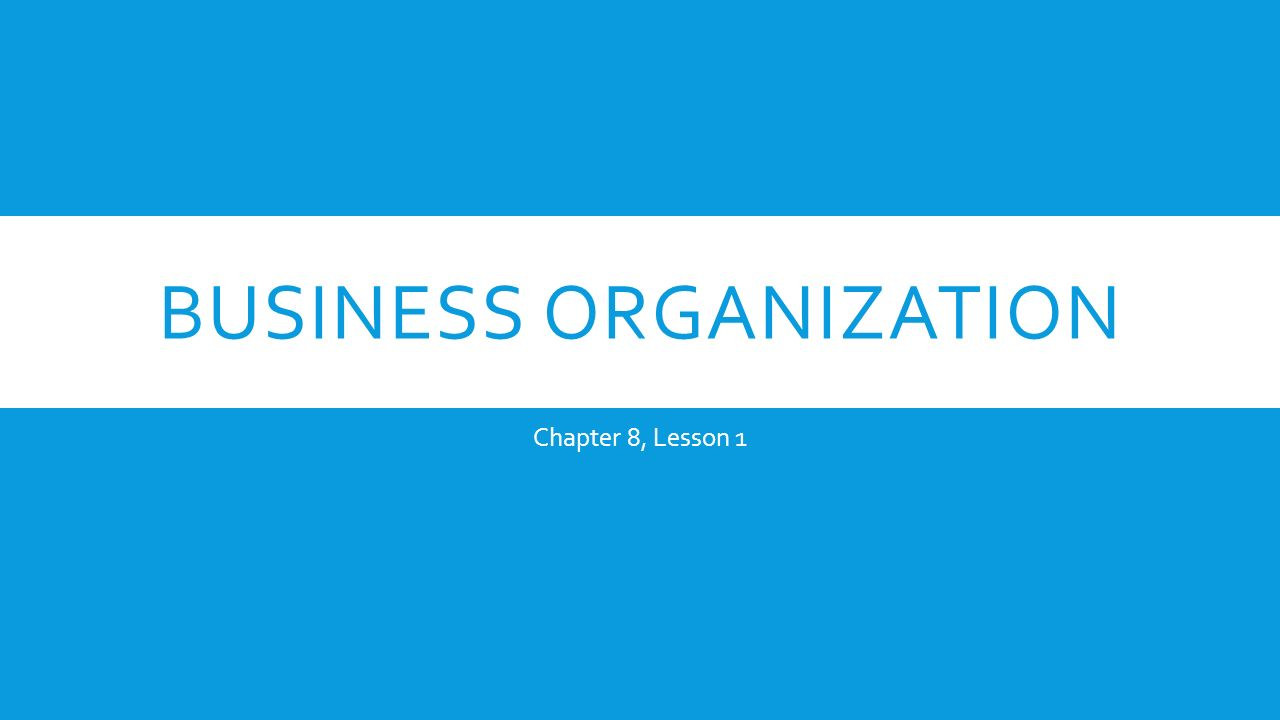 buisness organisation