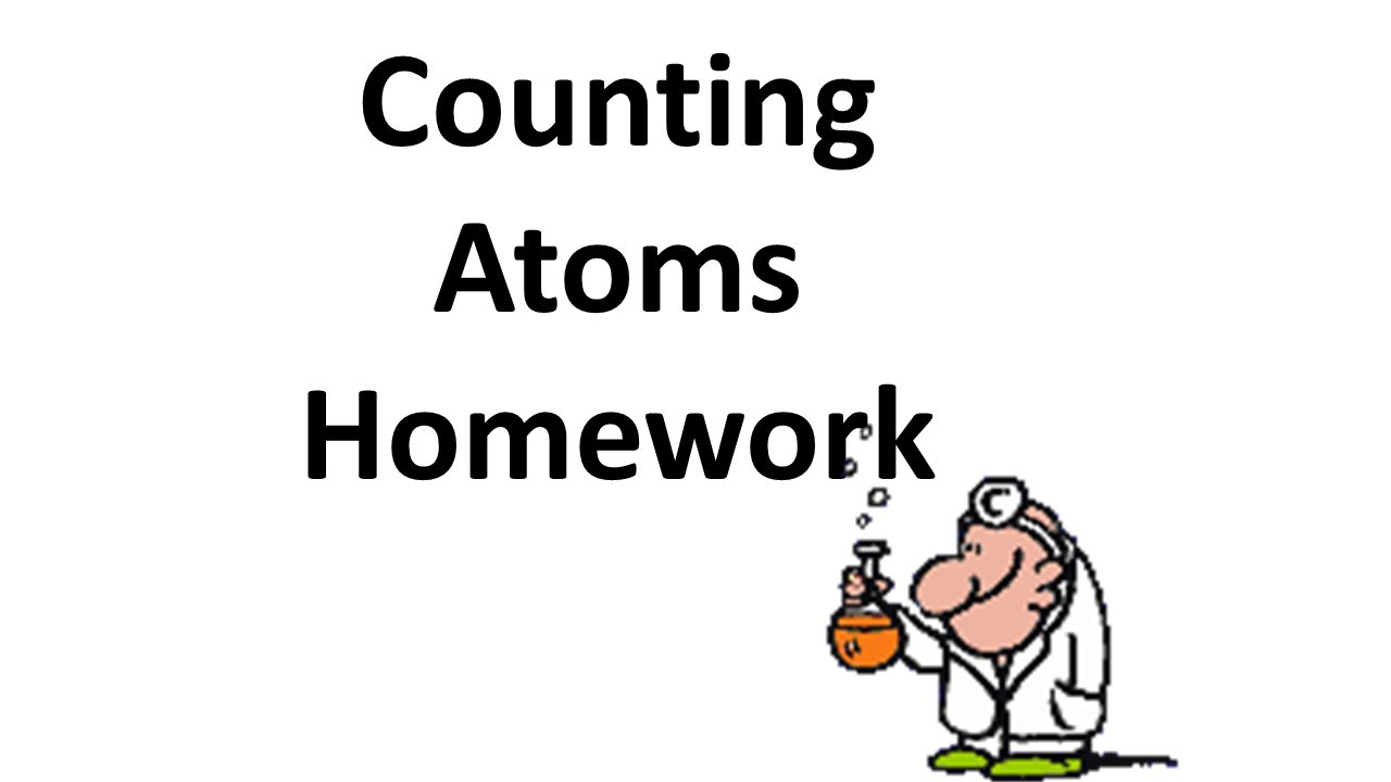 Counting atoms worksheet 2 answers