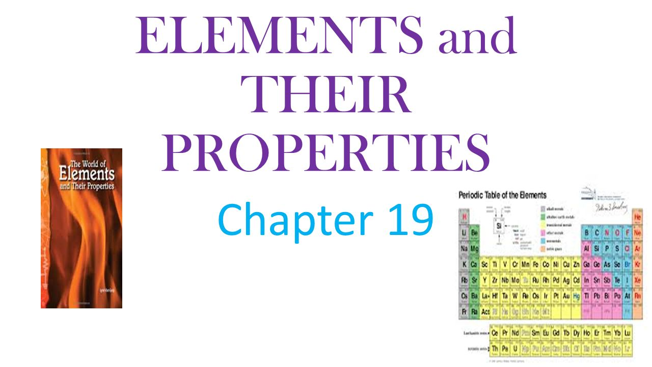 Elements and their properties chapter 19 the periodic table 1 elements gamestrikefo Gallery