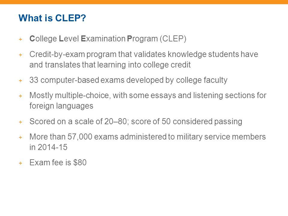 Clep Essay Topics