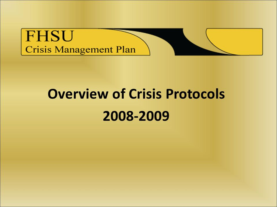Overview of Crisis Protocols 2008-2009