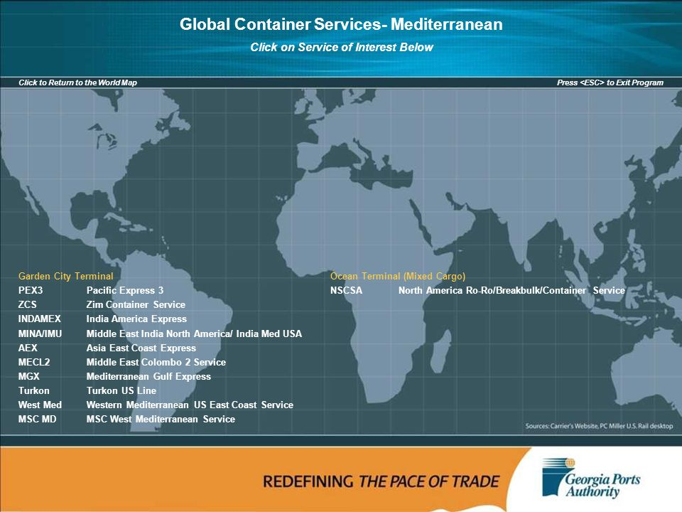 Global Container Services Port Of Savannah January Ppt Download - Us east coast ports map