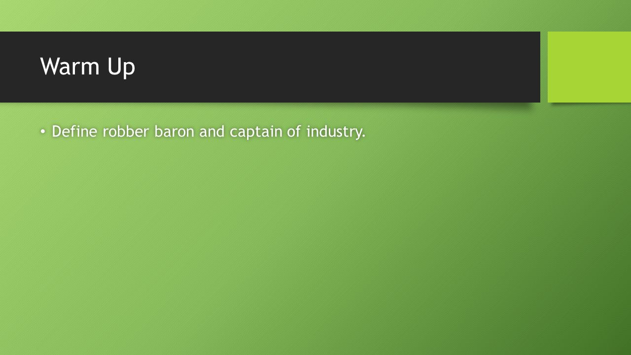 the captains of industry essay