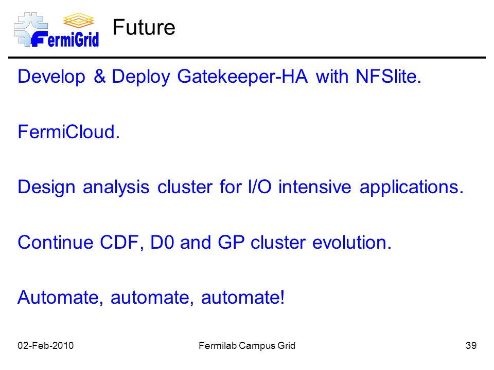 Future Develop & Deploy Gatekeeper-HA with NFSlite.