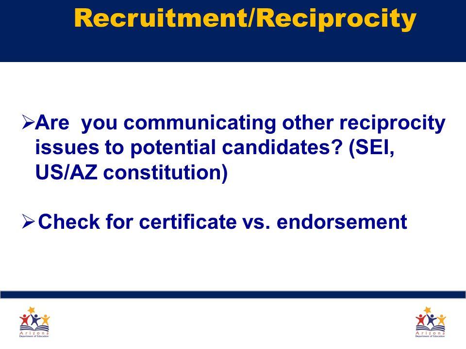 arizona teaching certificate reciprocity