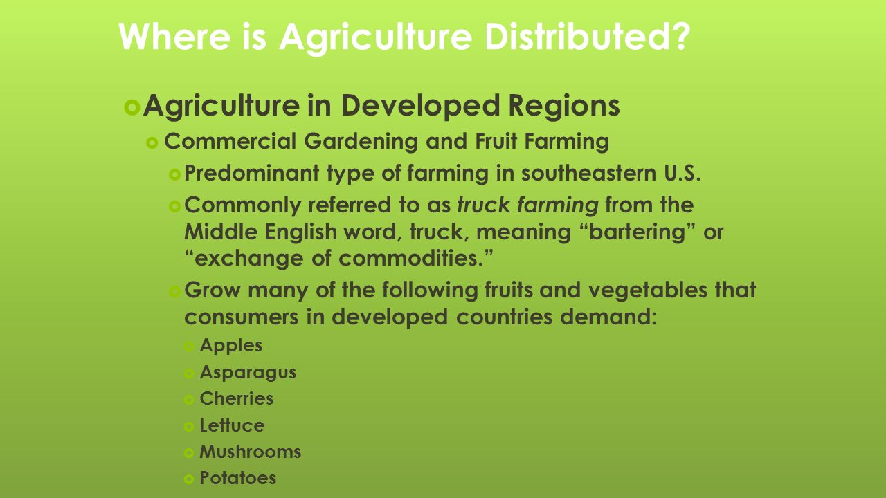 Where is Agriculture Distributed?  Geographer Derwent Whittlesey ...