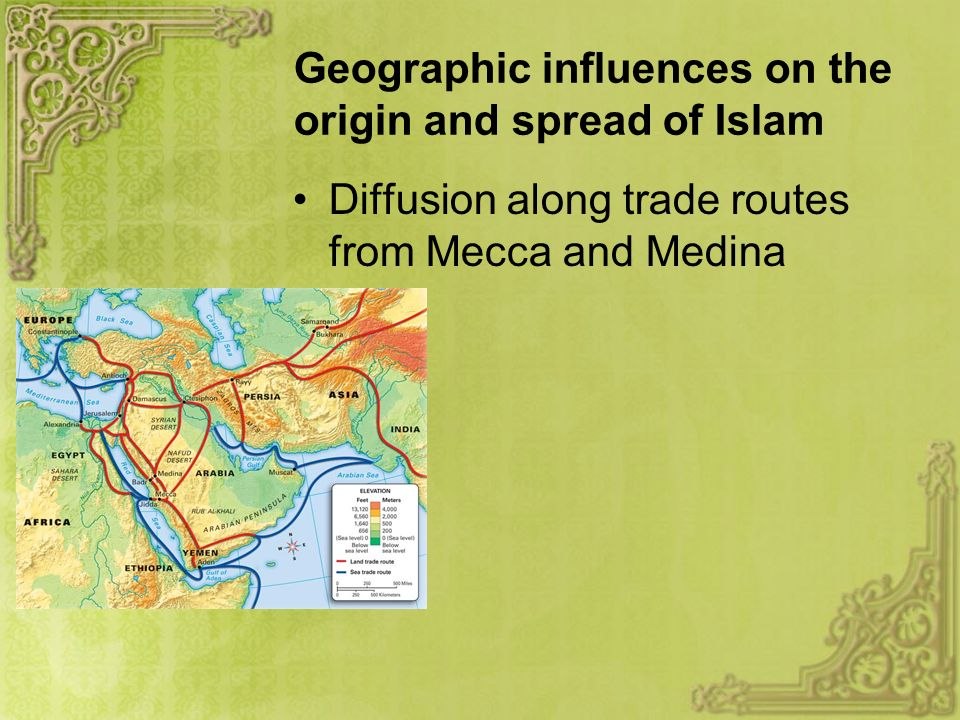 Big Picture Questions How did geography influence the rapid expansion of territory under Muslim rule.