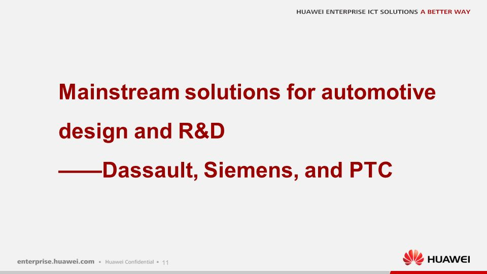 11 Mainstream solutions for automotive design and R&D ——Dassault, Siemens, and PTC