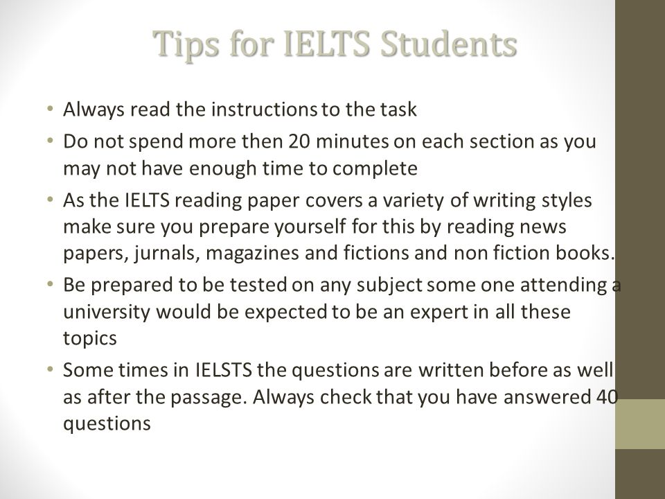 ielts reading test general presentation types of modules 3 tips