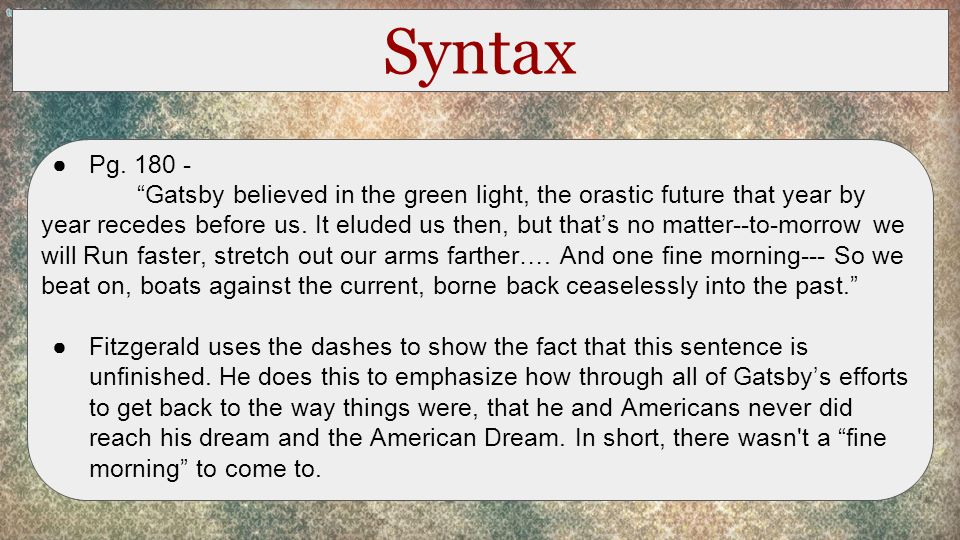 the great gatsby chapter analysis chapter summary in this  3 syntax