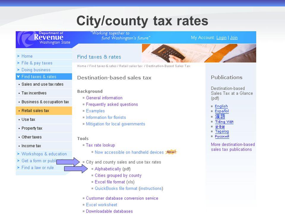tax law and sales tax
