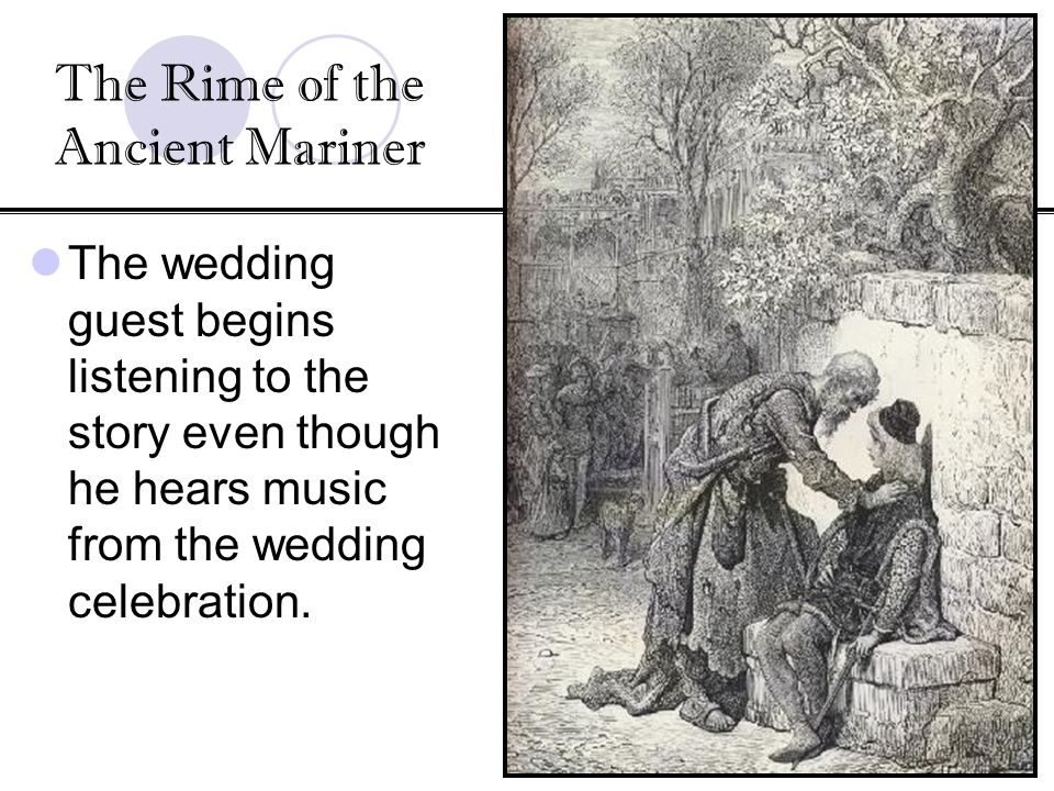 samuel coleridge the rime of the ancient mariner essay Samuel taylor coleridge the wedding-guest is spell-bound by the eye of the the rime of the ancient mariner in seven parts he holds him with his glittering eye-.