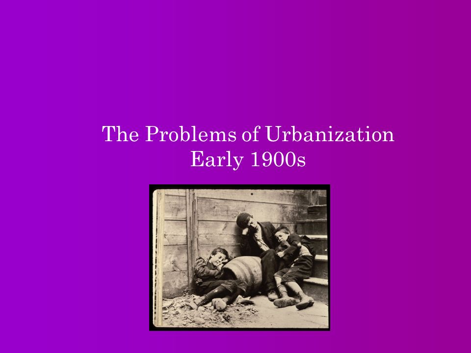 the problems of urbanization Recently, as developed countries, many cities have become more suitable to live in with all facilities that people need in favor of a comfortable live style therefore, many people migrate from rural areas to urban areas in a process so called urbanization (wikipedia, 2009) urbanization has become.