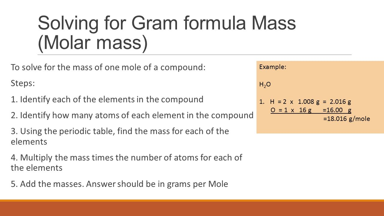 Mole gram formula mass moles to grams and grams to moles ppt 7 solving gamestrikefo Image collections