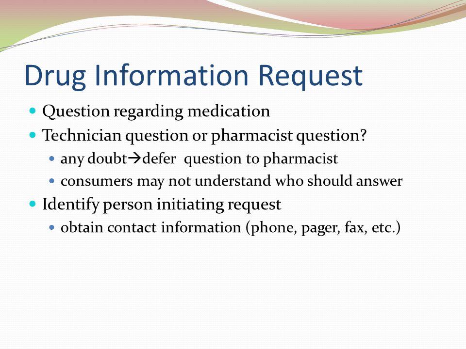 4 drug information - Drug Information Pharmacist