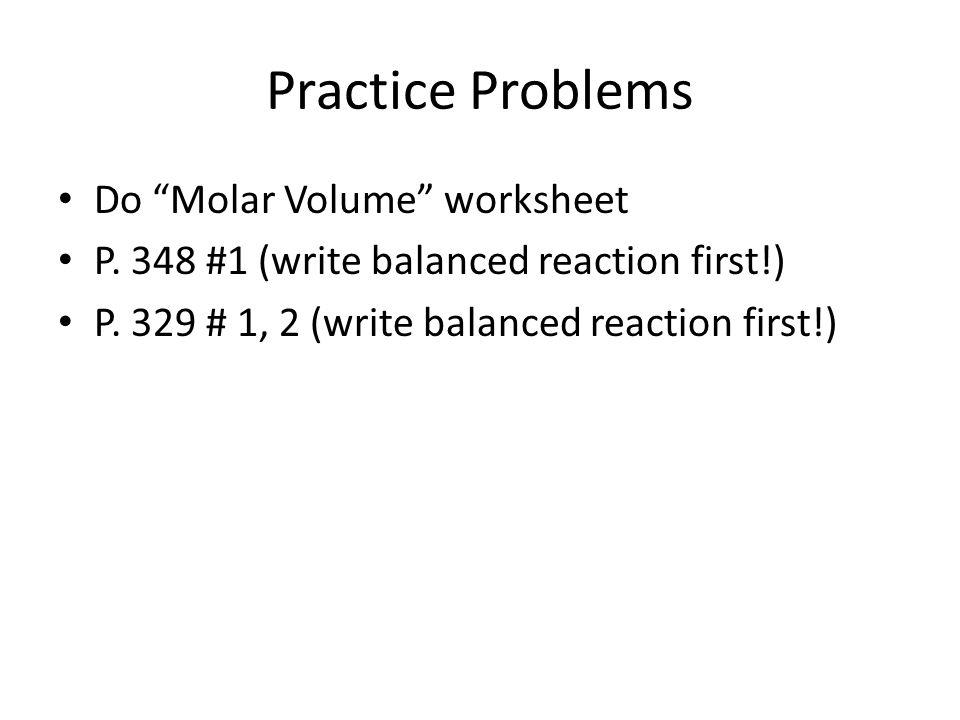 Stoichiometry stoichio greek for element stoichiometry – Molar Volume Worksheet