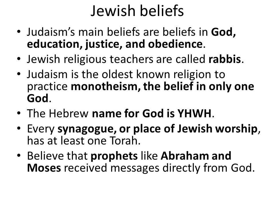 influence of religious upbringing to believe in judaism Free essay: comparison of judaism and islam because of the history of political and religious warfare that has separated them, the underlying unity of.