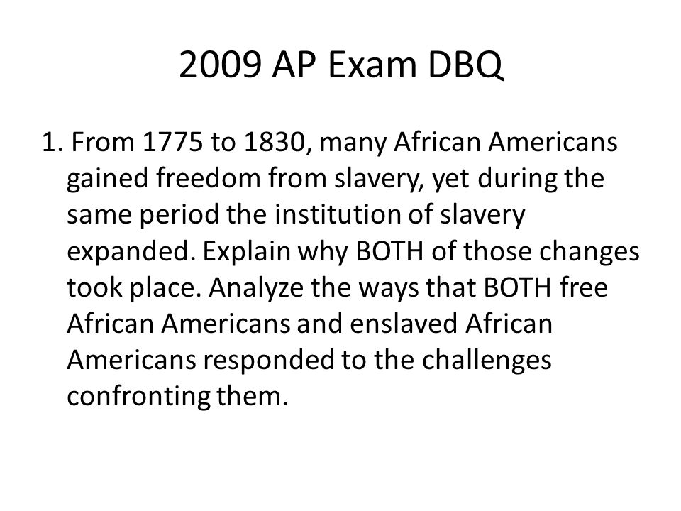 AP US History...DBQ advice/tips?