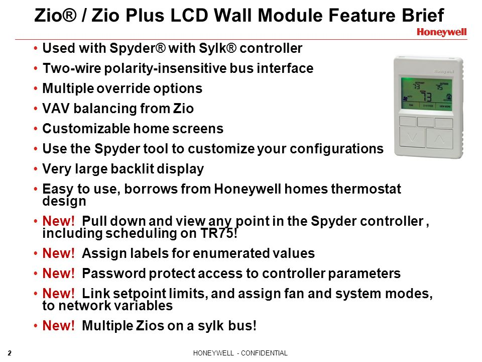 slide_2 honeywell confidential new zio� zio plus wiring & configuration honeywell spyder wiring diagram at edmiracle.co
