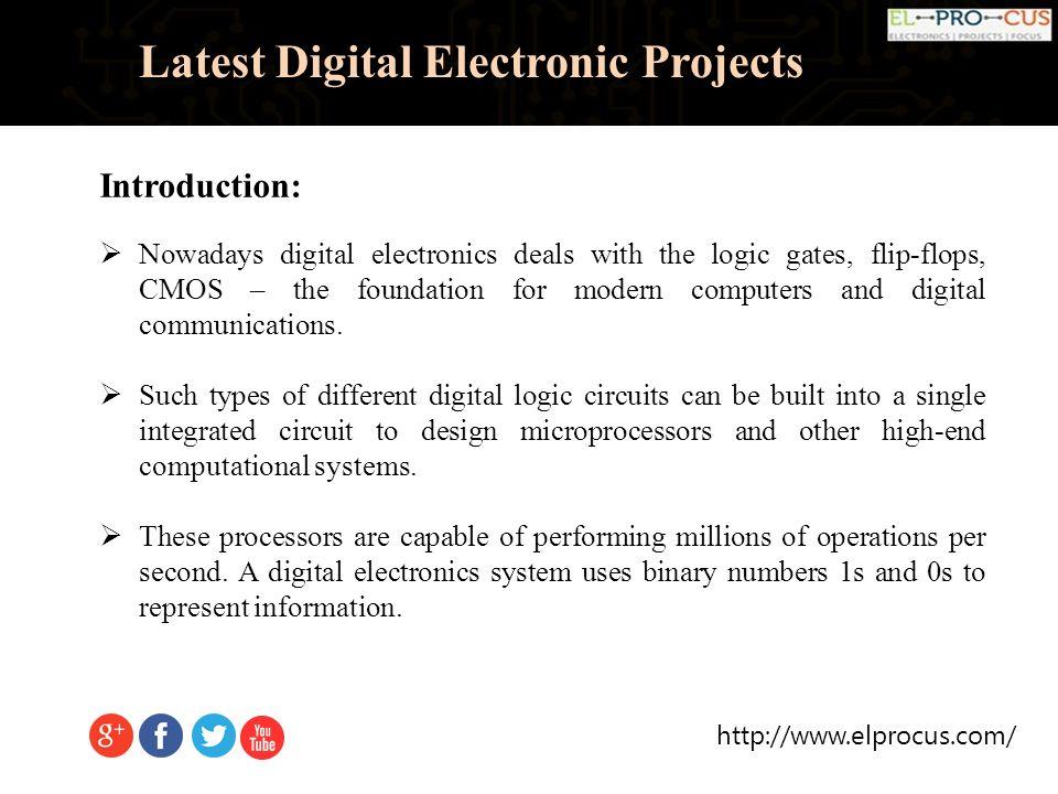 Latest Digital Electronic Projects. Latest Digital Electronic ...