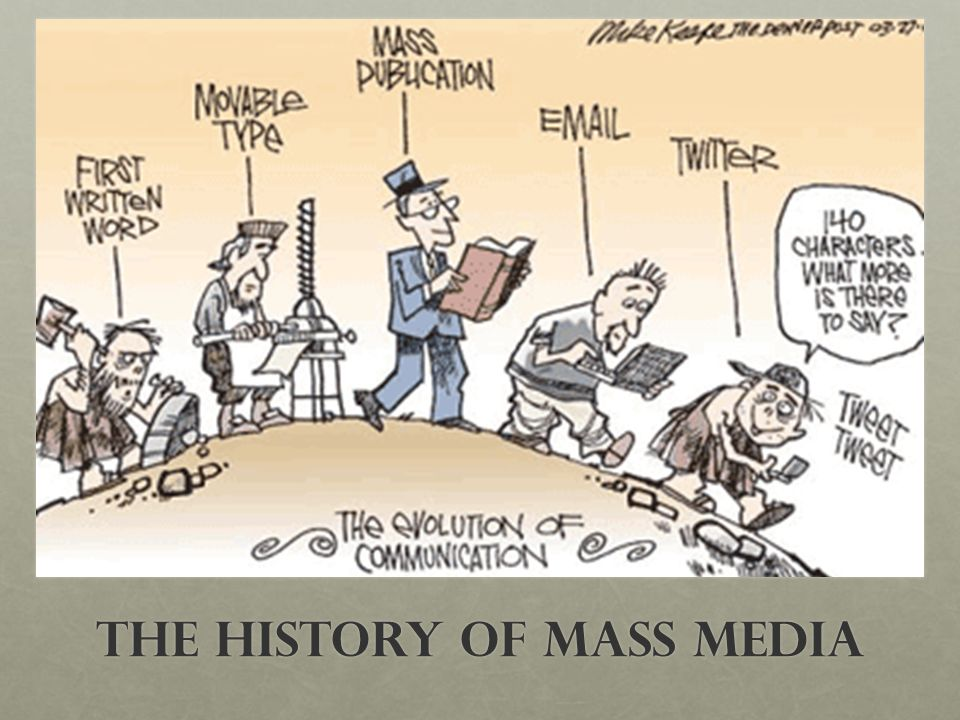 an analysis of the evolution of mass media Free essays on what were the major developments in the evolution of mass media during the last century for students 1 - 30.