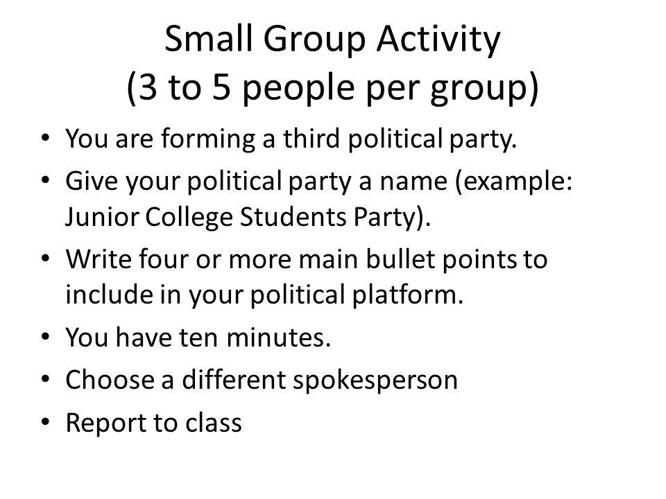 Political Platform Example