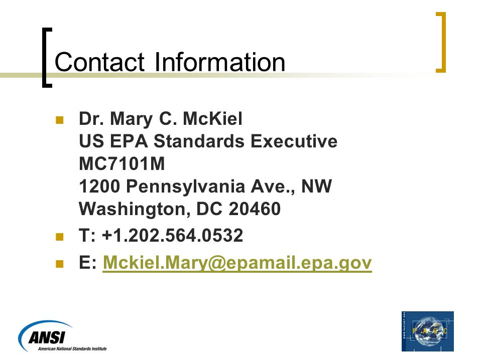Contact Information Dr. Mary C.