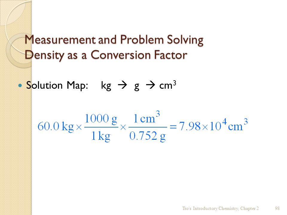 Solving density problems in chemistry