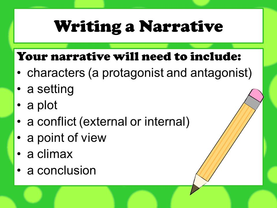 point of view narrative essay Writing a Narrative Essay
