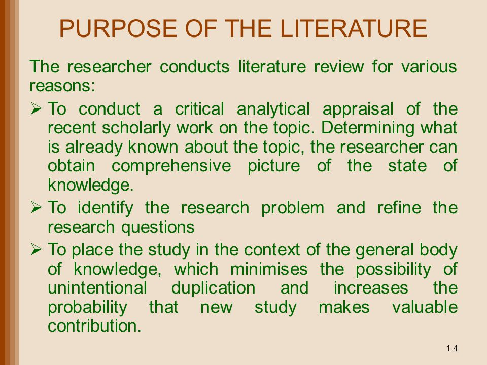 credit appraisel literature review A literature review asks: what do we know - or not know - about this particular issue/ topic/ subject how well you answer this question depends upon: the effectiveness of your search for information.