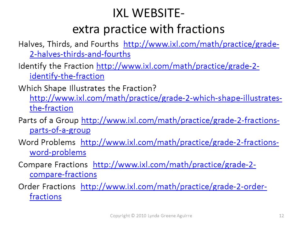 Fractions What are they? How do they work? What are they good for ...