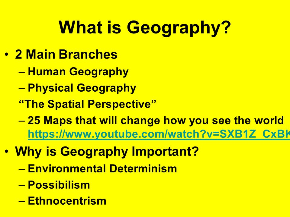 determinism and possibilism in geography