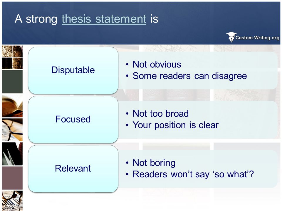 hot to write a thesis statement Use the thesis statement guide as many times as you like your ideas and the results are anonymous and confidential when you build a thesis statement that works for you, ensure that it addresses the assignment finally, you may have to rewrite the thesis statement so that the spelling, grammar, and punctuation are correct.
