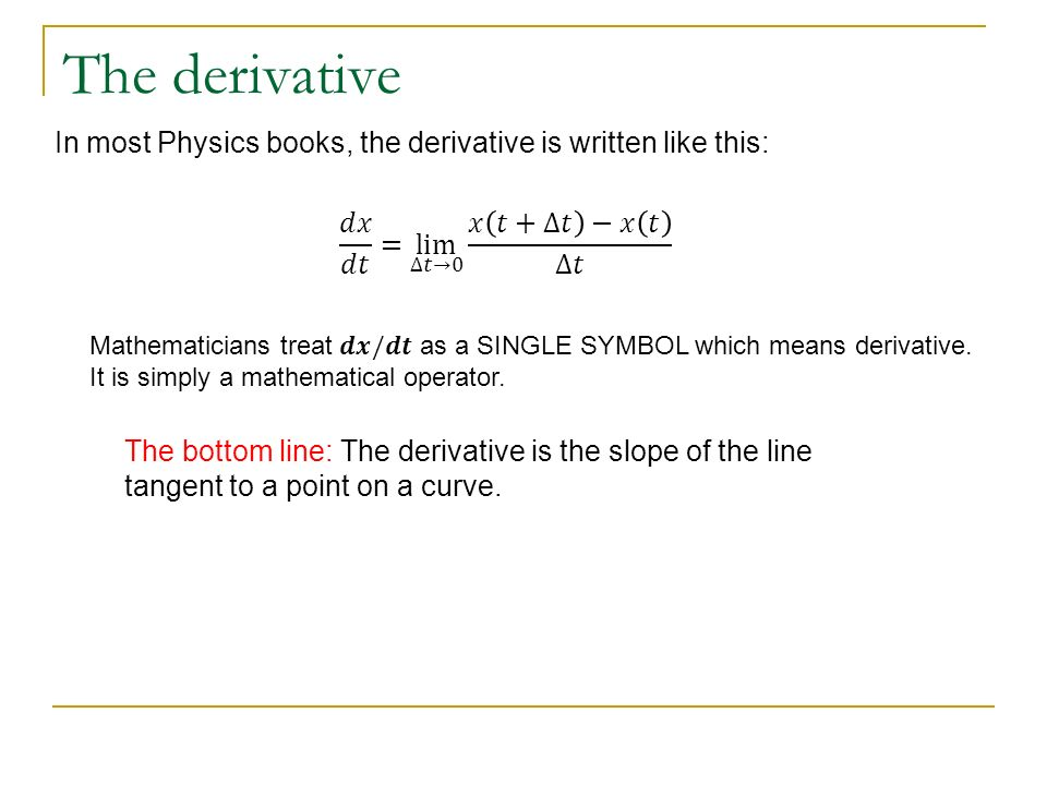 The Basics Of Physics With Calculus Ap Physics C Ppt Download