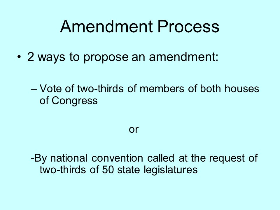 Amendments To The Us Constitution What Are Amendments Changes To